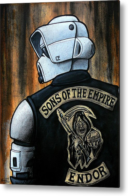 Star Wars Metal Print featuring the painting Sons Of The Empire by Marlon Huynh