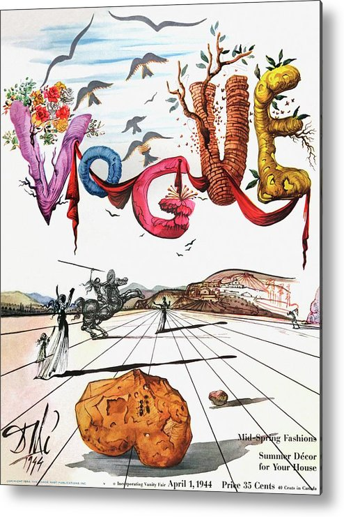 Art Metal Print featuring the photograph Spring Letters With A Visage Of Dali by Salvador Dali