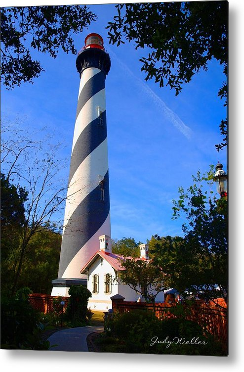 St. Augustine Metal Print featuring the photograph St. Augustine Lighthouse by Judy Waller