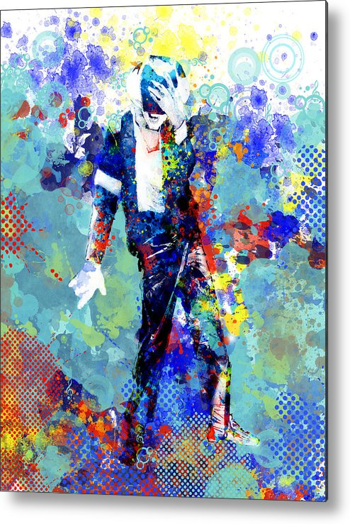 Michael Jackson Metal Print featuring the painting The king by Bekim M