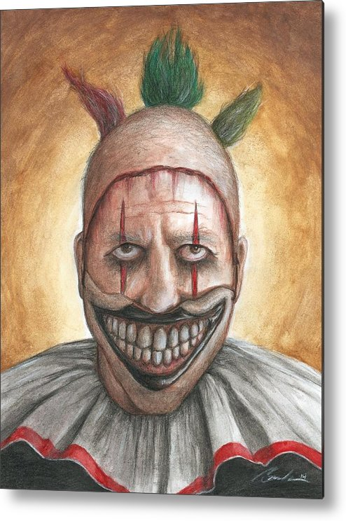 Clown Metal Print featuring the painting Twisty by Bruce Lennon