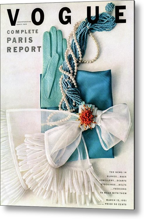 Accessories Metal Print featuring the photograph Vogue Cover Featuring Various Accessories by Richard Rutledge