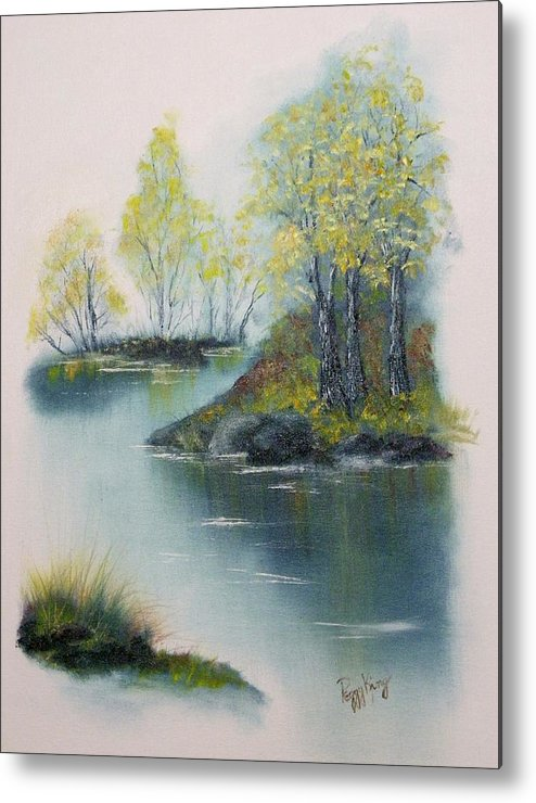 Landscape Metal Print featuring the painting Autumn Afternoon by Peggy King