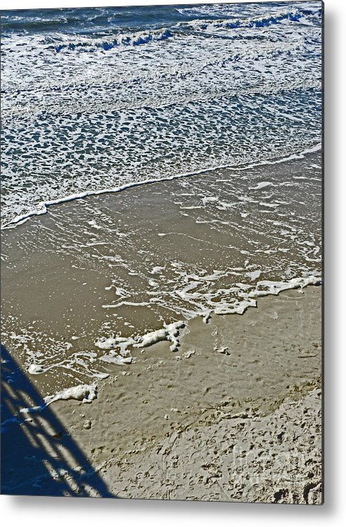 Oak Island Metal Print featuring the photograph Patterns by Beebe Barksdale-Bruner