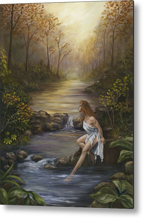 Landscape Metal Print featuring the painting The Muse by Anne Kushnick