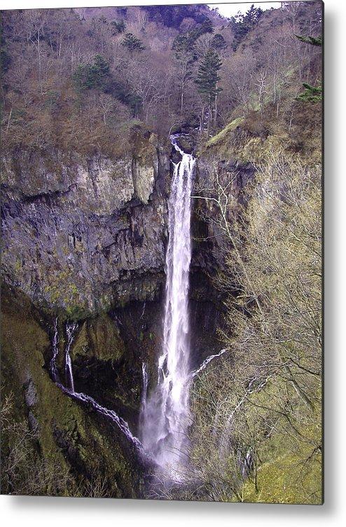 Waterfall Metal Print featuring the photograph Waterfall Japan by Naxart Studio