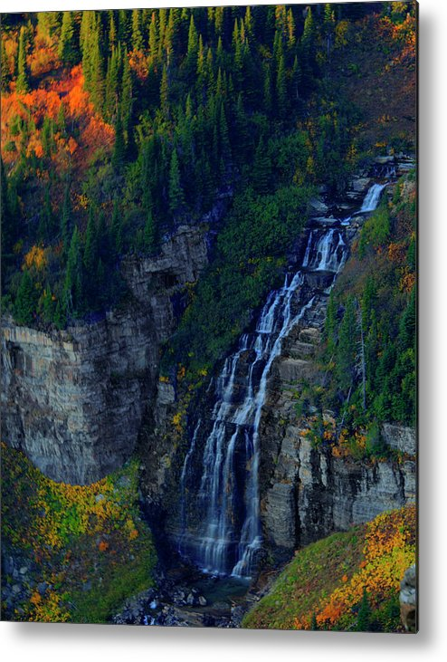 Glacier Metal Print featuring the photograph Glacier Waterfall by Roy Nierdieck
