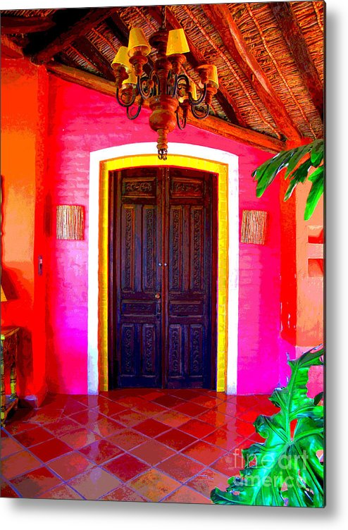 Darian Day Metal Print featuring the photograph Hacienda 2 by Darian Day by Mexicolors Art Photography