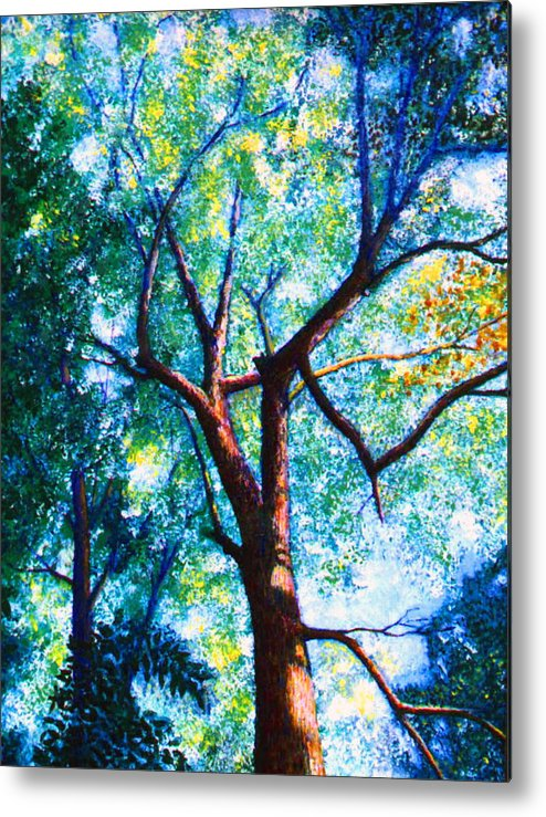 Landscape Metal Print featuring the painting The Tree by Stan Hamilton