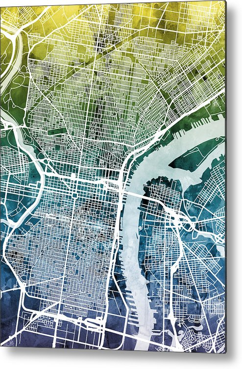 It's just an image of Printable Map of Philadelphia regarding street