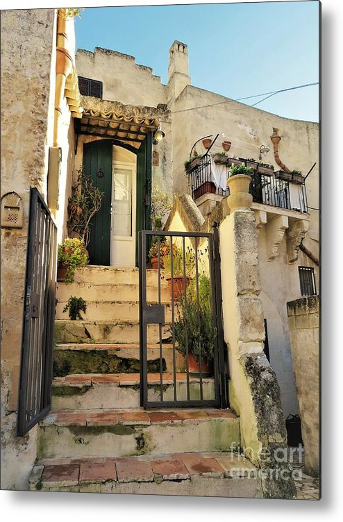 Matera Metal Print featuring the photograph A Matera Stone Home by Laurie Morgan