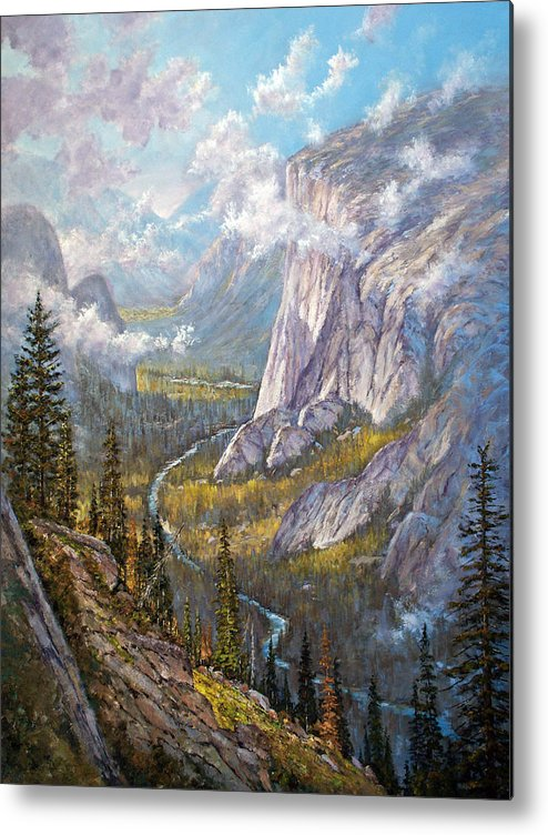 Yosemite Metal Print featuring the painting Above El Capitan by Donald Neff