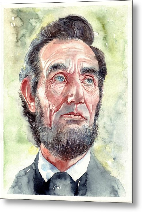 Abraham Metal Print featuring the painting Abraham Lincoln portrait by Suzann Sines