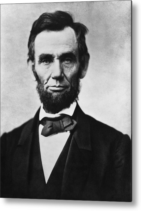 Abraham Lincoln Metal Print featuring the photograph Abraham Lincoln by War Is Hell Store