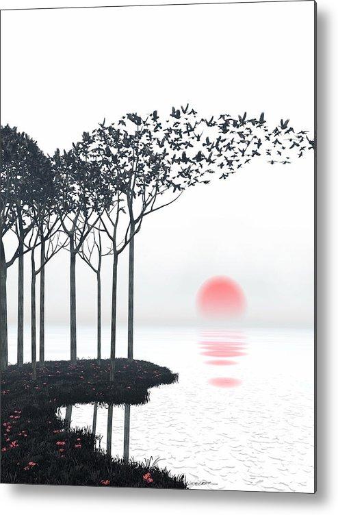 Landscape Metal Print featuring the digital art Aki by Cynthia Decker