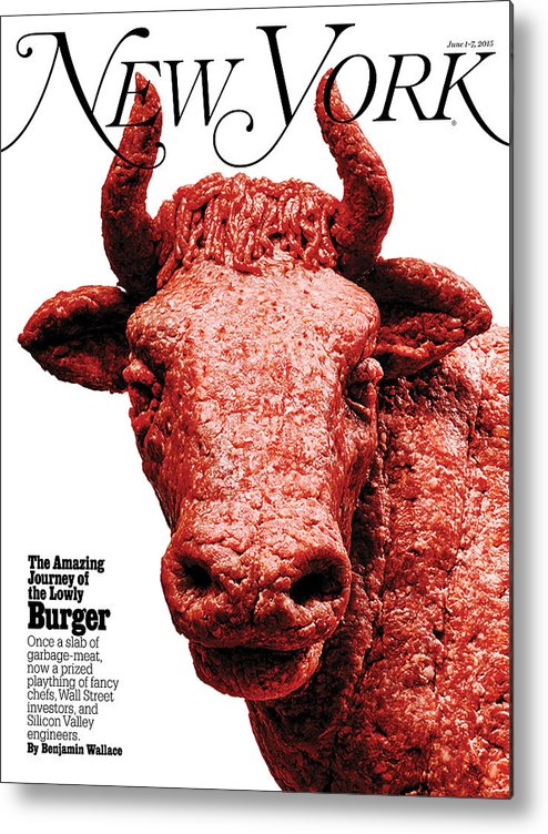 New York Magazine Metal Print featuring the photograph The Amazing Journey of the Hamburger by Bobby Doherty