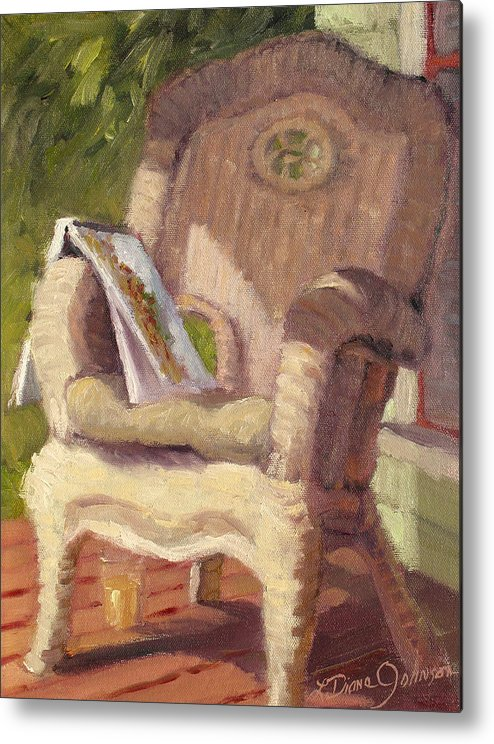 Old Architecture Metal Print featuring the painting An Afternoon With Monet by L Diane Johnson