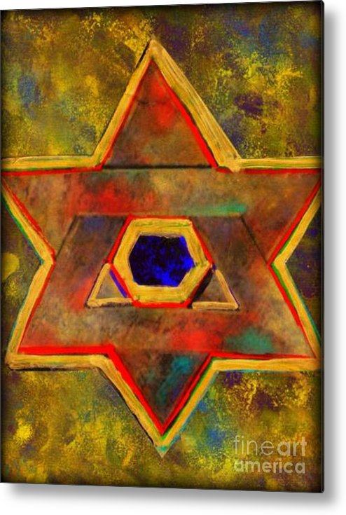 Ancient Star Metal Print featuring the painting Ancient Star by Wbk