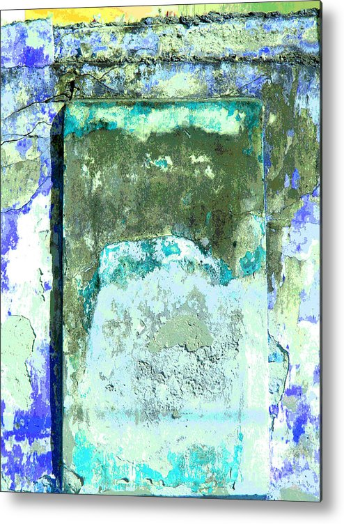 Michael Fitzpatrick Metal Print featuring the photograph Ancient Wall 2 by Michael Fitzpatrick by Mexicolors Art Photography