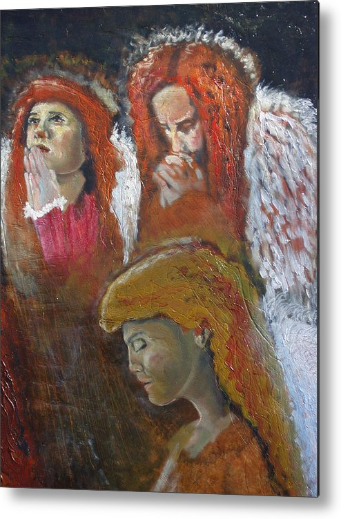 Angels Metal Print featuring the painting Angels by J Bauer