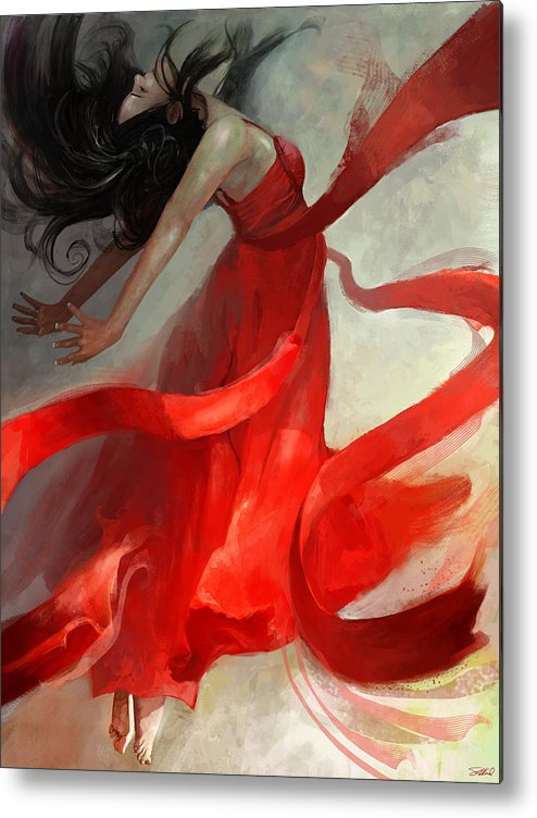 Dancer Metal Print featuring the painting Ascension by Steve Goad
