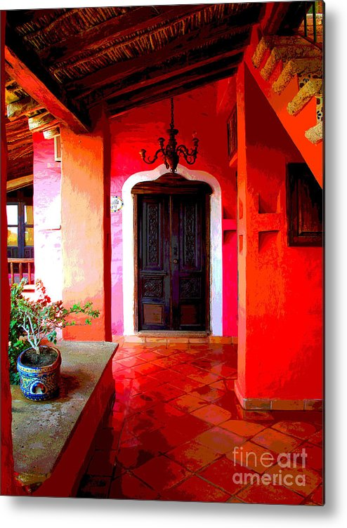 Darian Day Metal Print featuring the photograph Back Passage by Darian Day by Mexicolors Art Photography