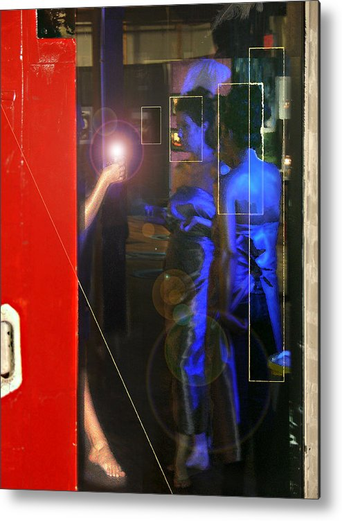 Female Figures Metal Print featuring the photograph Blue Muses by Steve Karol