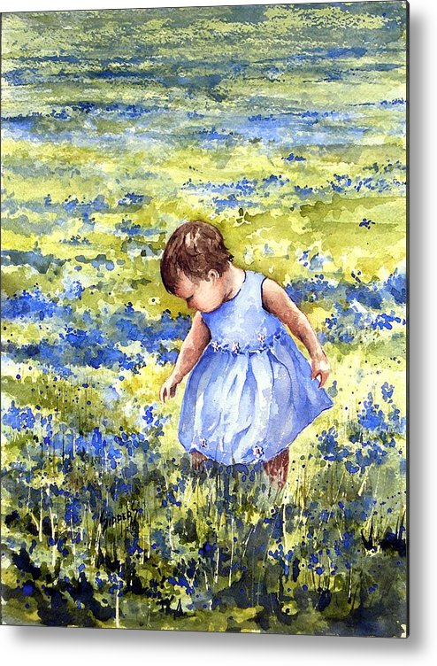Blue Metal Print featuring the painting Blue by Sam Sidders