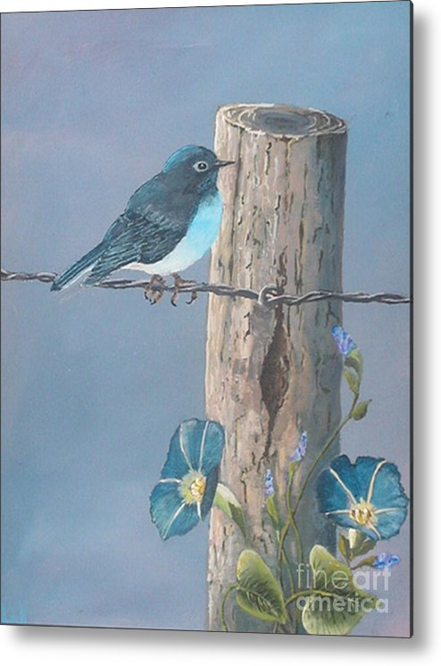 Bluebird Metal Print featuring the painting Bluebird by John Wise