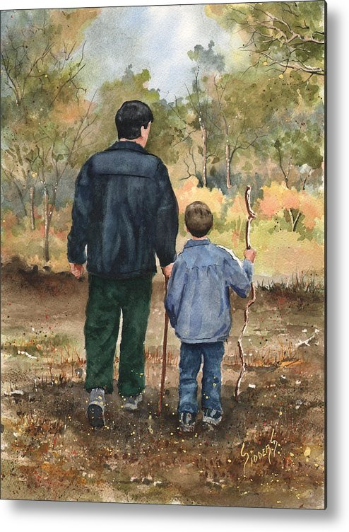 Walk Metal Print featuring the painting Bob and Alex by Sam Sidders