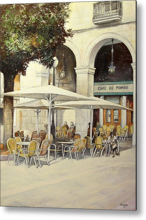 Cafe Metal Print featuring the painting Cafe de Pombo-Santander by Tomas Castano