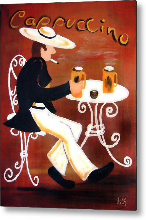 Cappuccino Metal Print featuring the painting Cappuccino by Helmut Rottler
