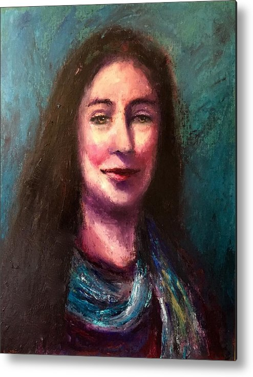 Cari Cassidy Metal Print featuring the painting A Mused by Shannon Grissom