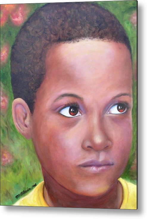 Children Metal Print featuring the painting Caribe Child by Merle Blair