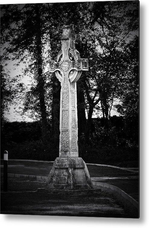 Irish Metal Print featuring the photograph Celtic Cross in Killarney Ireland by Teresa Mucha