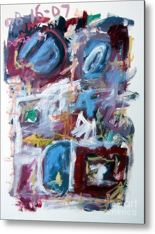 Abstract Metal Print featuring the painting Composition No. 10 by Michael Henderson