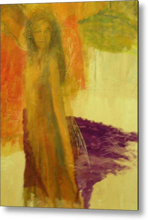 Angels Metal Print featuring the painting Dance of Angels by J Bauer