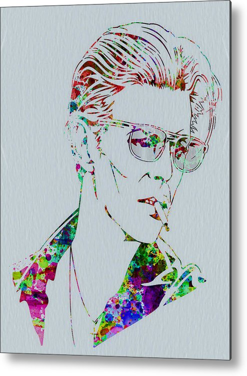 David Bowie Metal Print featuring the painting David Bowie by Naxart Studio