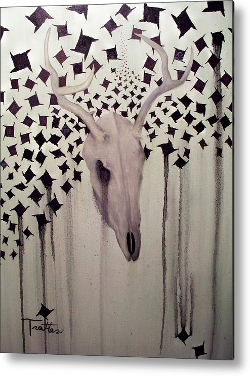 Painting Metal Print featuring the painting Deer Slayer by Patrick Trotter