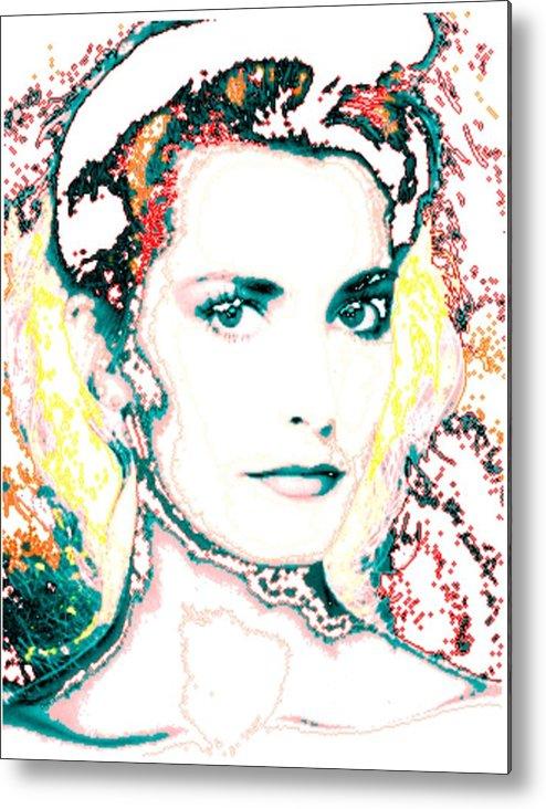 Digital Metal Print featuring the digital art Digital Self Portrait by Kathleen Sepulveda