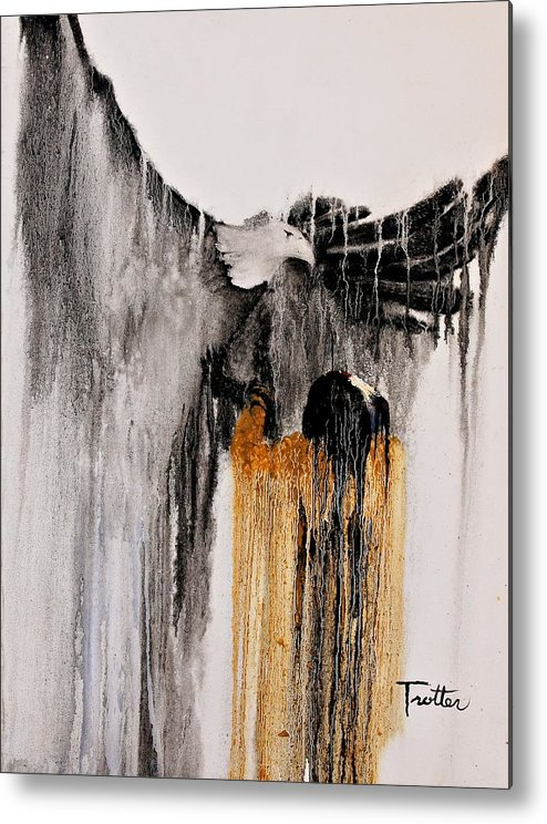 Natives Metal Print featuring the painting Eagle Spirit by Patrick Trotter