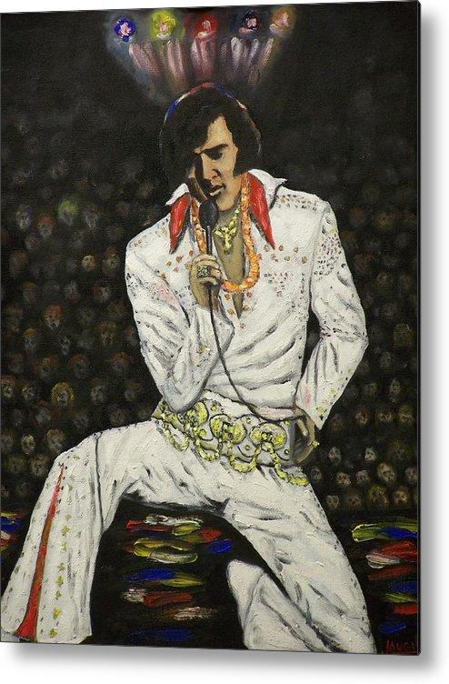 People Metal Print featuring the painting Elvis by Charles Vaughn