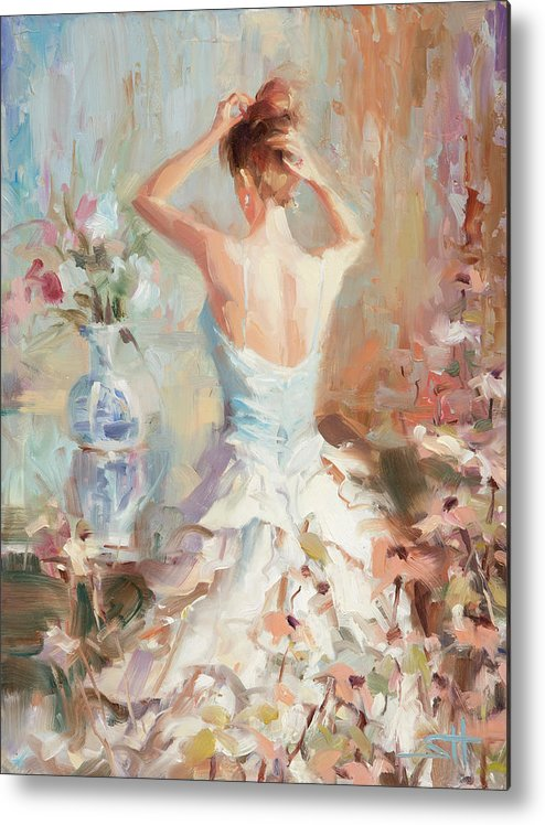Romance Metal Print featuring the painting Figurative II by Steve Henderson