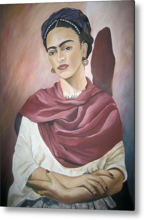 Frida Metal Print featuring the painting Frida by Jessica De la Torre