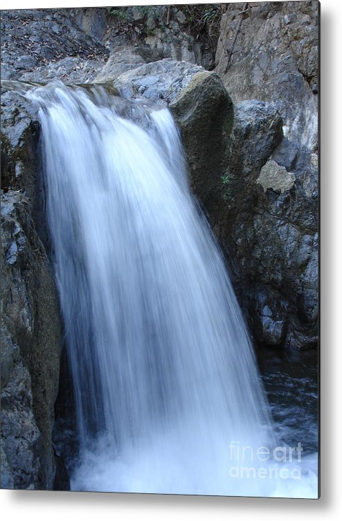 Waterfalls Metal Print featuring the photograph Frozen Water by Chad Natti