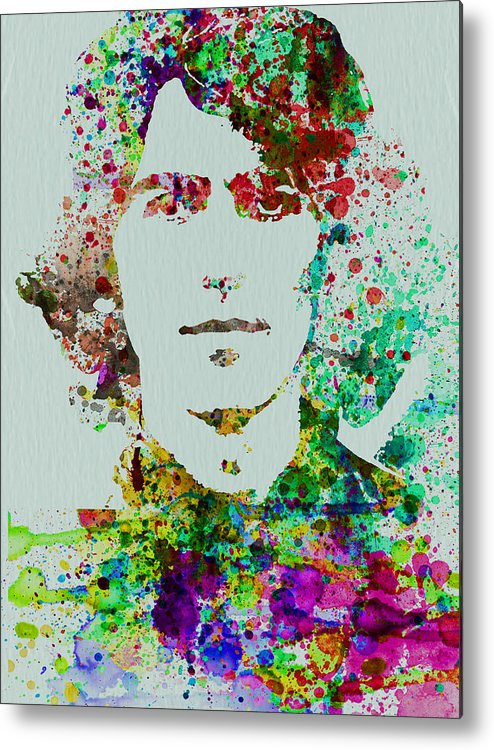 George Harrison Metal Print featuring the painting George Harrison by Naxart Studio
