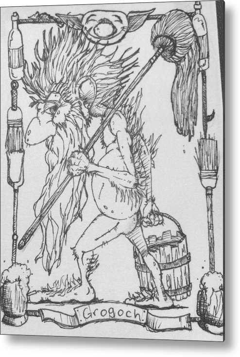 Fae Metal Print featuring the drawing Grogoch by Jason Strong