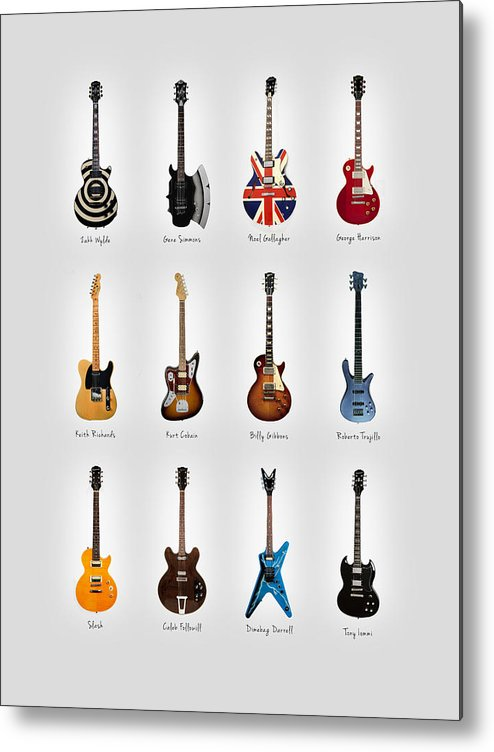 Fender Stratocaster Metal Print featuring the photograph Guitar Icons No3 by Mark Rogan