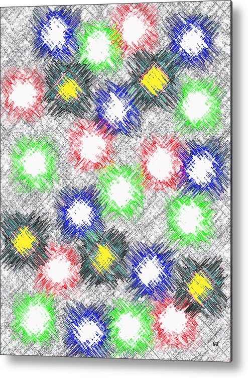 Abstract Metal Print featuring the digital art Harmony 32 by Will Borden