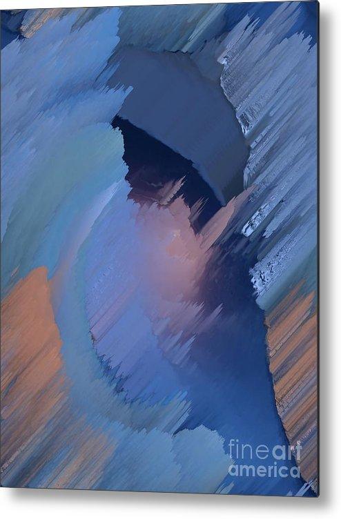 Blue Metal Print featuring the painting Hemisphere by Vicki Lynn Sodora